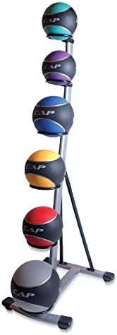 CAP Barbell Rubber Medicine Ball Set with Rack