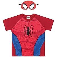 Camiseta Manga Raglan em Meia Malha Spider-Man, Fakini