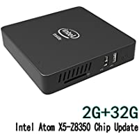 Mini PC Windows 10, 2GB/32GB Intel Atom x5-Z8350(2M Cache, up to 1.92 GHz),HD Graphics 400,4K/1000M LAN/2.4G+5.8G WIFI/BT4.0 (2+32GB/Windows 10 Home/Z8350)