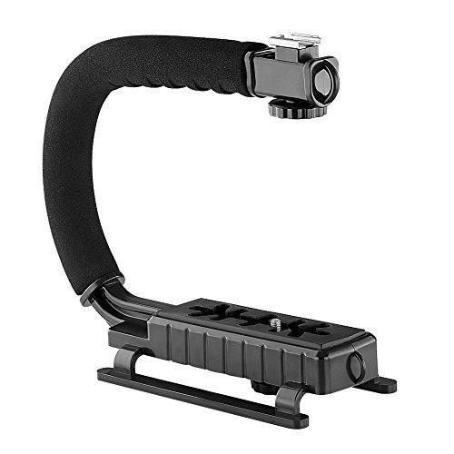 Shoot Point And Camera Digital Film (Neewer C Shaped Video Action Stabilizing Handle Bracket for DV Camcorders DC DSLR Cameras and Point and Shoot Cameras-Black)