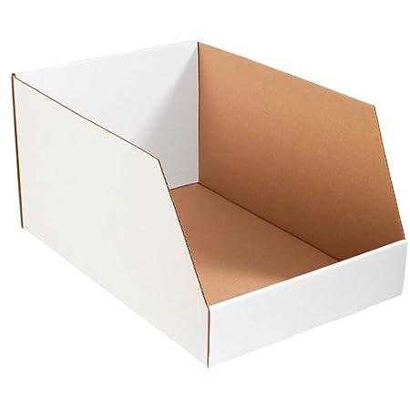 Oyster White 18-Inch Length X 10-Inch Width X 10-Inch Height Bundle of 25 Aviditi BINJ101810 Jumbo Corrugated Open Top Bin Box