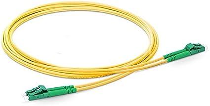 38m, 3.0mm Fiber Optic Cable LC//APC to LC//APC Singlemode Duplex 2.0mm//3.0mm Outer Diameter OS2 9//125mm Fiber Optic Patch Cord 0.5M-200M Length Options