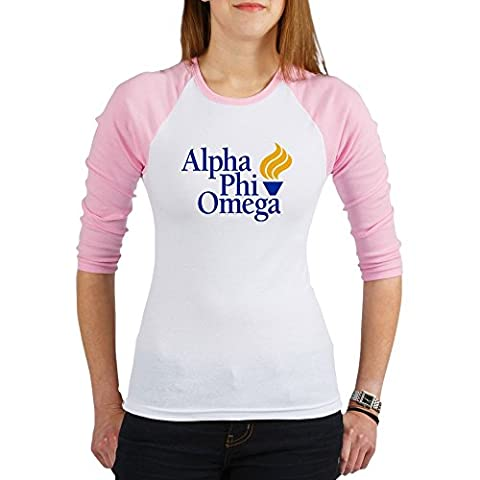 CafePress - Alpha Phi Omega Fraternity Logo - Jr. Raglan T-shirt, Slim Fit Junior Tee