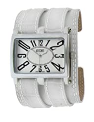 EOS New York Unisex 19LWHT Trendsetter White Leather Strap Watch