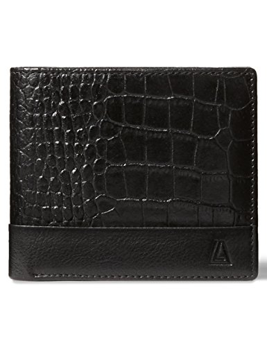 Classic Tri Fold Wallet (LEATHER ARCHITECT- Men's 100% Leather RFID Classic Tri-fold Wallet-Black/Black)