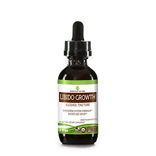 Libido Growth Tincture Alcohol Extract, Organic ((Cinnamon Bark, Rosehips Seed, Kola Nut, Vanilla Bean) Tincture Supplement (2 FL OZ)