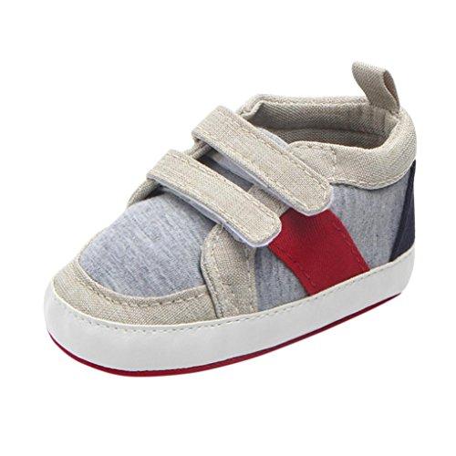 BZLine® Neugeborene Kleinkind Baby Kleinkinder Mädchen Soft Anti-Slip Canvas Sneaker Beige
