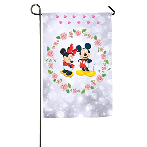 FOOOKL Minnie and Mickey. Home Family Party Flag 101 Hipster Welcomes The Banner Garden Flags