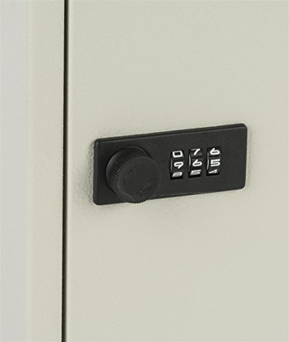 Displays2go Locking Key Cabinet with 80 Hooks, Manual Combination Lock, Wall Mount, Gray Steel (PWCBN80TN) by Displays2go (Image #4)