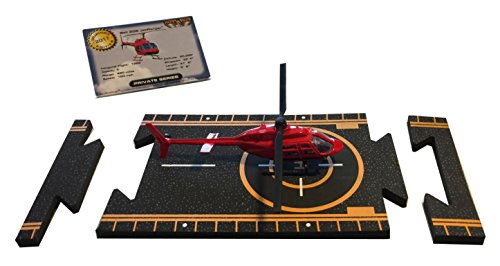 Bell 206 Jet Ranger - Hot Wings Bell 206 Jet Ranger Connectible Runway Die Cast Model Airplane, Red