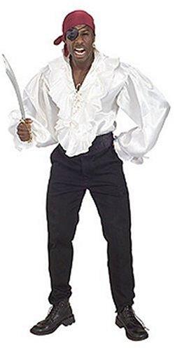 Rubie's Pirates of the Seven Seas White Satin Pirate Shirt - Adult XL Costume ()