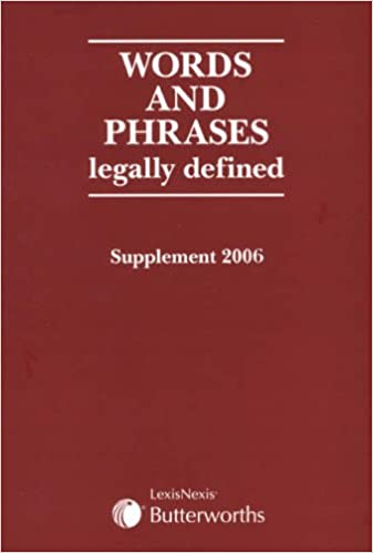 Words and Phrases Legally Defined: 2006 Supplement