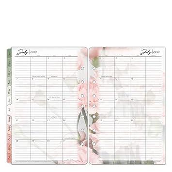 Amazon.com: Classic Blooms - Anillo mensual de dos páginas ...