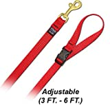 6′ Pet Leash – Small w/ Quick Release Handle – Red Dog Leash, My Pet Supplies