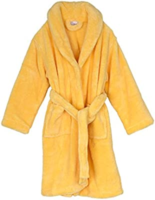 Kids Plush Shawl Fleece Bathrobe Made in Turkey TowelSelections Boys Robe
