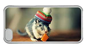 MMZ DIY PHONE CASEHipster ipod touch 4 case Cheap price cover cute gerbil PC Transparent for Apple ipod touch 4