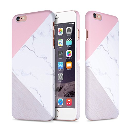 iPhone 6/6S Maeble Case,L-JUWA [Marble Pattern]Slim-Fit Ultra-Thin Anti-Scratch Shock Proof Non-Slip Anti-Finger Print PC Hard Case for iPhone 6/iPhone 6S -Pink