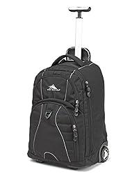 High Sierra Freewheel Mochila con ruedas para portátil, ideal para la escuela secundaria, mochila universitaria, bolsa de escuela con ruedas, mochila de negocios, mochila de viaje, bolsa de mano perfecta para hombres y mujeres