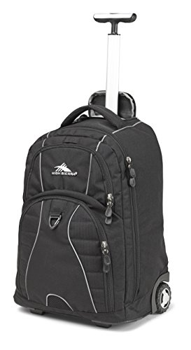 High Sierra Freewheel Wheeled Laptop Backpack, Black