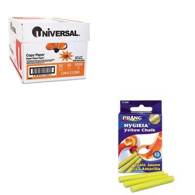 (KITDIX31344UNV21200 - Value Kit - Prang Hygieia Dustless Board Chalk (DIX31344) and Universal Copy Paper (UNV21200))
