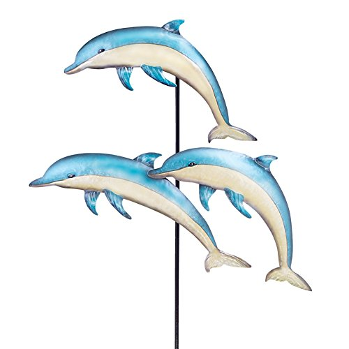 Jumping Dolphins Garden Stake