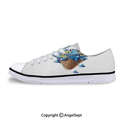 - Sneaker Globe Planet Earth Flavor Ecological Flat Canvas Shoes for Womens