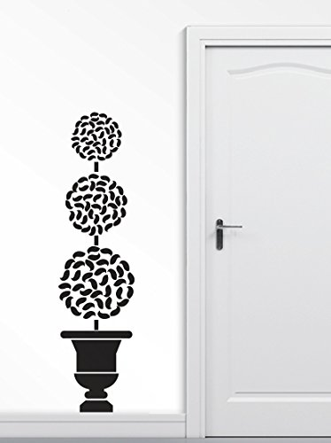 (Wall Decal BIG TOPIARY TREE Deco Art Sticker Mural (black))