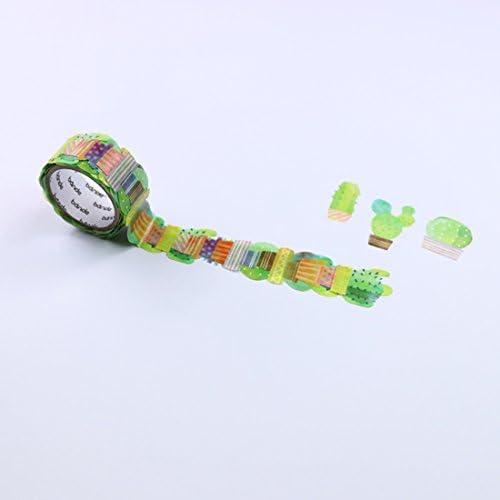 - Mushroom /& Cactus Set of 2 Washi roll stickers Bande