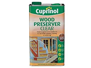 Cuprinol 5l wood preserver clear diy tools Cuprinol exterior wood preserver clear