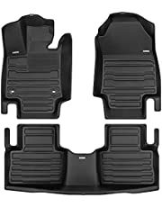 TuxMat Custom Floor Mats for Toyota RAV4 2019-2022 Models - Max Coverage, All Weather, Laser Measured - Full Set Includes Front & Rear Rows