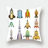 Custom Satin Pillowcase Protector Rocket Ship In Cartoon Style New Businesses Innovation Development Flat Design Icons Template 626529581 Pillow Case Covers Decorative