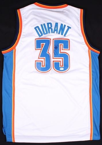 wholesale dealer 065bb 140fa Kevin Durant Signed OKC Thunder Jersey JSA at Amazon's ...
