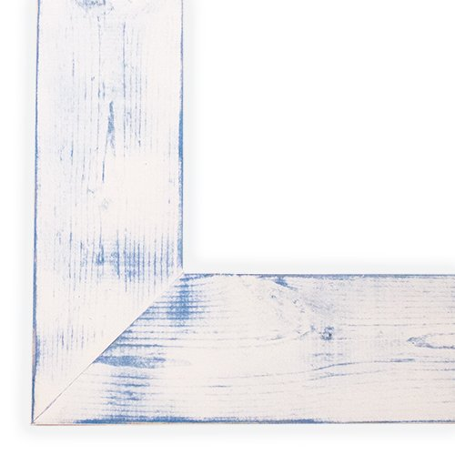 Daisy White/Spa Blue Picture Frame-Solid Wood, 8x8 by The Rusty Roof (Image #2)