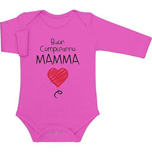Dolce Idea E Lunga Wow Regalo Manica Buon Body Tenera Neonato Mamma Shirtgeil Compleanno Rosa wqZaZg