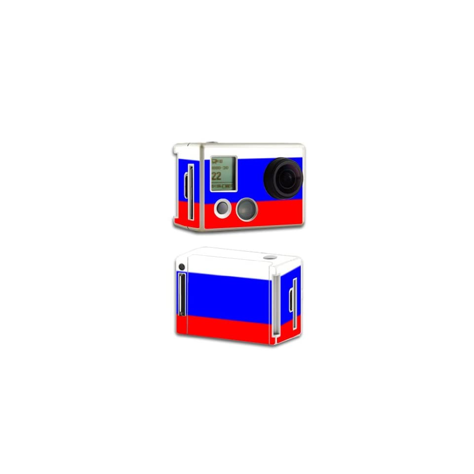 MightySkins Protective Vinyl Skin Decal Cover for GoPro HD Hero2 Camera Digital Camcorder Sticker Skins Russian Flag Electronics