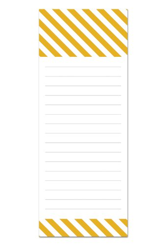 6 Magnetic Notepads - Modern Design Series - 6 Different Designs on 3.5'' x 9'' Pads