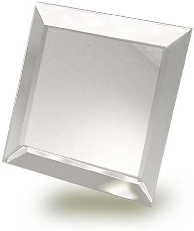 National Artcraft Bevelled 4X4 Mirror Makes A Great Base for Display Or As A Craft Accessory Pkg 6