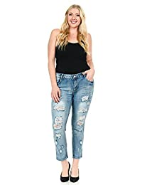 Sweet Look Women's Jeans - Plus Size - High Waist - Push Up - Style WV13826-R