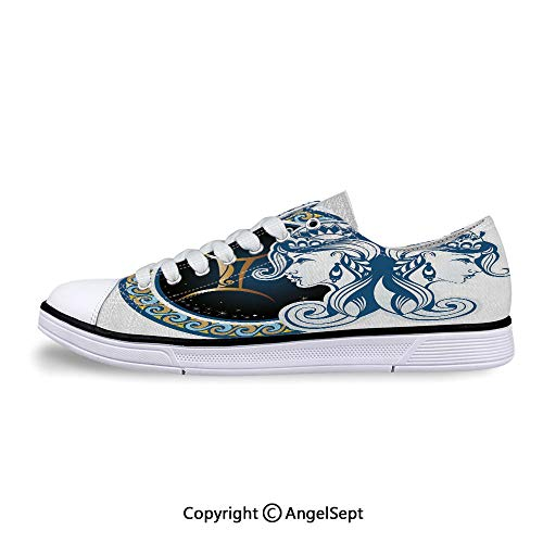 Low Top Canvas Shoes with Back to Back Women Lace Up Sneakers]()