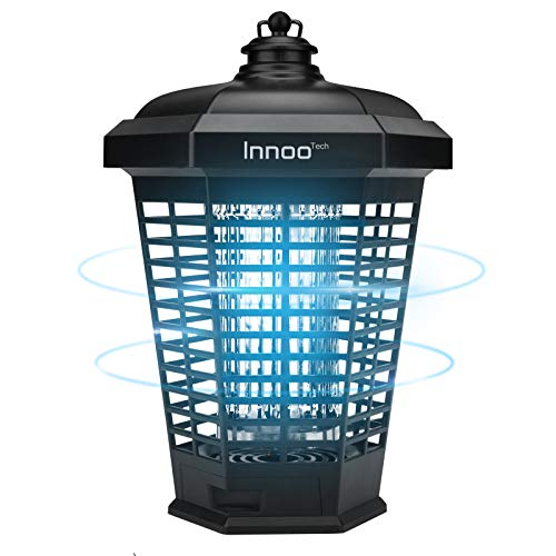 Bug Zapper Outdoor Electric Indoor, 4200V Waterproof IPX4 Insect Fly Pest Attractant Trap, Powered Electric Mosquito Zappers Killer for Backyard, Patio