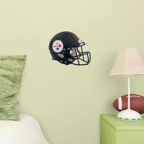 FATHEAD NFL Pittsburgh Steelers - Helmet Teammate- Officially Licensed Removable Wall Decal, Multicolor, Big