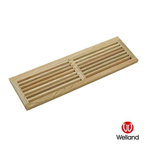 - WELLAND Hardwood Register Cold Air Return Wall Vent Unfinished, 8 inch x 24 inch, White Oak