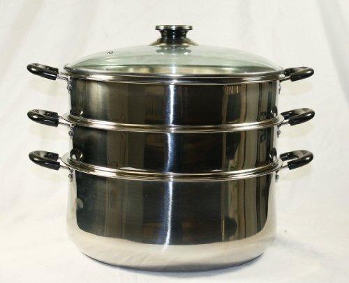 stainless steel 2 tier steamer - 8