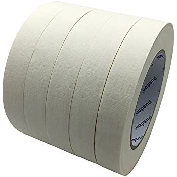Pusdon Masking Tape, White, Pack of 5, Each 3/4-Inch x 60 Yards (19mm x 55m)