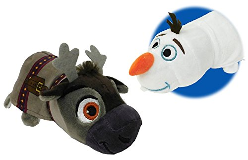 FlipaZoo New! Disney 14 inch Olaf to Sven Frozen Plush Stuff Toy - 2 Toys in -