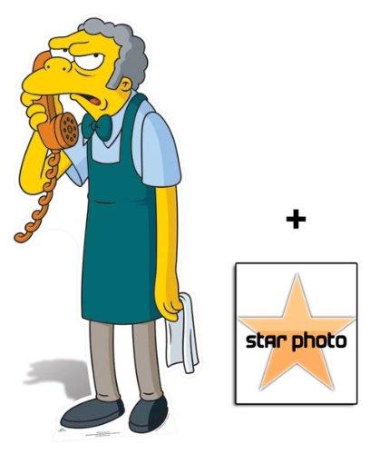(Fan Pack - Moe Szyslak The Bartender Lifesize Cardboard Cutout / Standee - Includes 8x10 (25x20cm) Star)