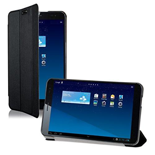 kwmobile Smart Cover Case für Huawei MediaPad X1 7.0 mit Ständer - Schmale Ultra Slim Hülle aus Kunstleder in Schwarz