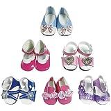 0d4002ac2d2 CZC GIFT 6 Pares de Zapatos de Muñeca Accesorios Zapatos de Muñecas para  American Girl de