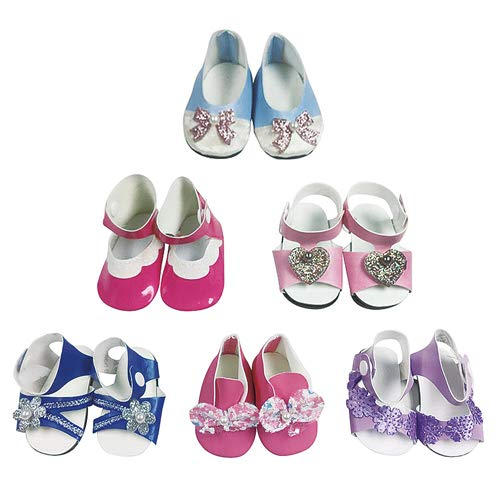 CZC GIFT 6 Pair Doll Shoes Dolls Accessories Fits 18 inch...