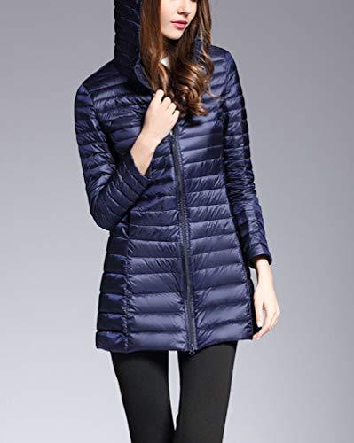 Trapuntato Marina Lunga Suncaya Cappotto Militare Ultraleggeri Packable Donna Giacche Giacca Piumino Inverno 6nnTZY